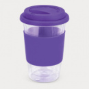 Aztec Double Wall Glass Cup+Purple