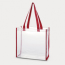 Clear Tote Bag Red