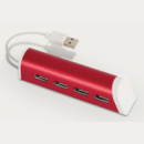 4 Port Aluminium Phone Stand red