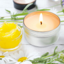 Citronella Candle+in use