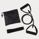 Yoga Stretch Band In Carry Pouch+Black