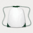 Clear Drawstring Backpack Green