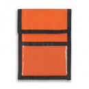 Nylon Wallet Badge and ID Holder+Orange