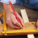 Carpenters Pencil+in use