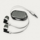 Retractable Reflective Earbuds Black