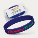 Silicone Wrist Band Embossed+bag+label