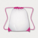 Clear Drawstring Backpack Pink