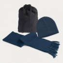 Nebraska Scarf and Beanie Set+Navy