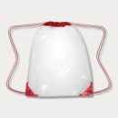 Clear Drawstring Backpack Red